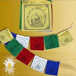 Tibetische Gebetsfahne 2 Meter - Medizin Buddha