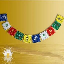 Tibetische Gebetsfahne OM MANI PADME H..