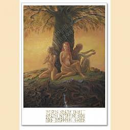 Postkarte Kunstdruck - Die Nornen