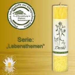 Allgäuer Heilkräuter-Kerze Danke