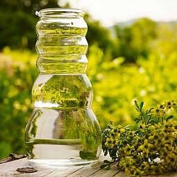 Karaffe Cadus Family weisse Blume des Lebens 1.5 Liter
