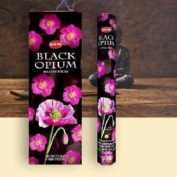 HEM 6-eckig Black Opium - Räucherstäbchen