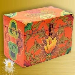 Schatzkiste Tibetisch - handbemalt