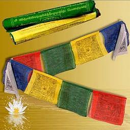 Tibetische Gebetsfahne 0.9 Meter - Baumwolle