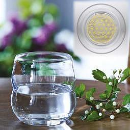 Trinkglas Mythos Blume des Lebens Golden