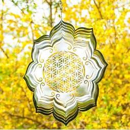 Mobile Blume des Lebens in Lotus 25 cm