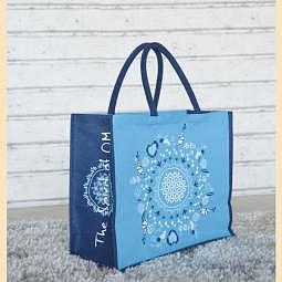 Tasche Die Blume des Lebens blau, türkis