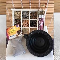Räucher-Starter-Set Schwarz mit Räucherharz-Geschenkset