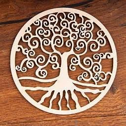 Wandschmuck Yggdrasil (Weltenbaum) aus Holz 8 cm