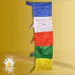 Tibetische Gebetsfahne vertikal