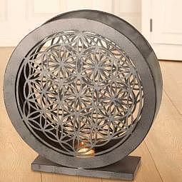 Windlicht & Deko-Objekt Blume des Lebens gross