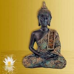 Buddha meditierend - Antiklook - Thailand