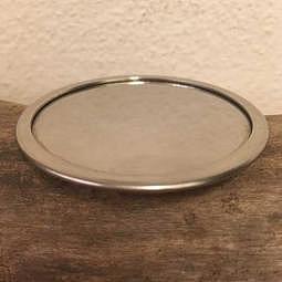 Räucherplatte/Räucherteller Edelstahl 6 cm