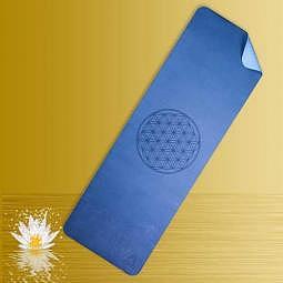 Yogamatte  TPE ecofriendly blau