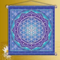 Wandschmuck Mediation Blume des Lebens