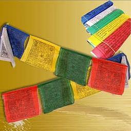 Tibetische Gebetsfahne 2.7 m L - Baumwolle
