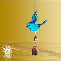 Windspiel mit Glöckchen Blue Bird