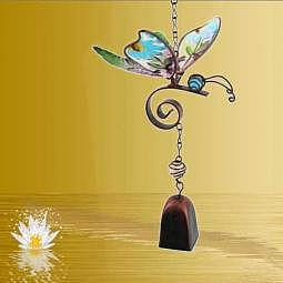 Windspiel mit Glöckchen Schmetterling Variante 2