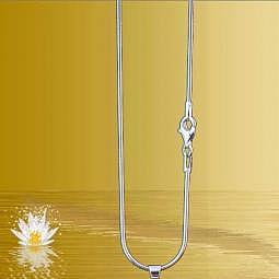 Schlangenkette 60 cm - 925 Silber