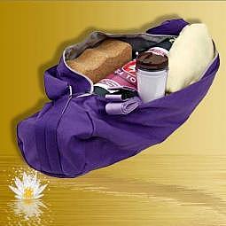 Yogatasche mit Lotus violett