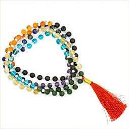 Mala 7 Chakren - A-Qualität - 108 Perlen