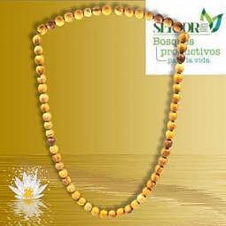 Halskette Palo Santo Perlen