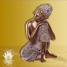 Buddha/Thai-Buddha ruhend gold 18.5 cm