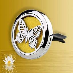 Auto-Diffusor Schmetterling silber