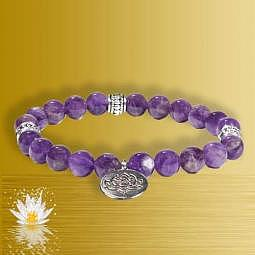 Armband Amethyst mit Lotus