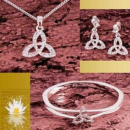 Keltischer Knoten - Schmuck-Set