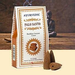 Ayurvedische Rückfluss Kegel Palo Santo(Heiliges Holz) - Backflow Räucherkegel