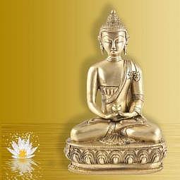 Buddha Amithaba 20 cm Messing
