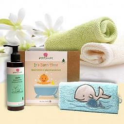 It's Bath Time Geschenkset - Wal Familie