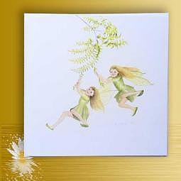 """Kunst-/Geschenkkarte """"Süsse Elfen"""""""