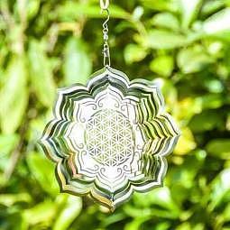 Mobile Blume des Lebens in Lotus 15 cm