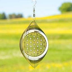 Mobile Blume des Lebens mit Kristallen 15 cm